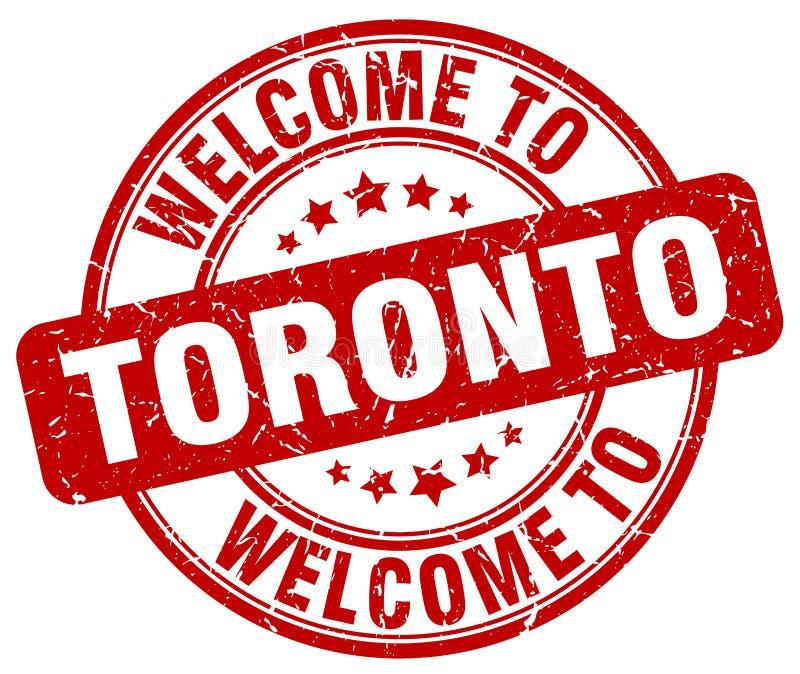 powitanie Toronto znaczek ilustracja wektor