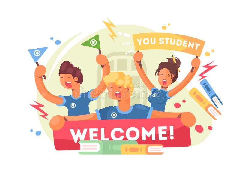 Powitanie uniwersytet ilustracji