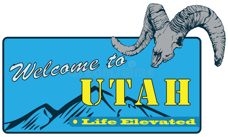 Powitanie Utah ilustracja wektor