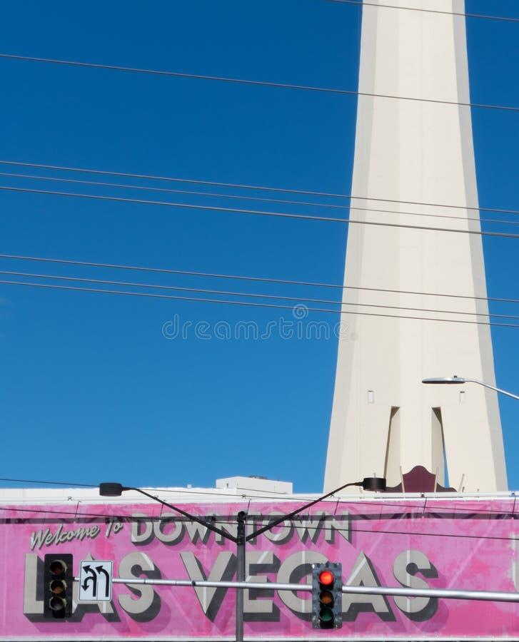 Powitanie W centrum Las Vegas fotografia stock