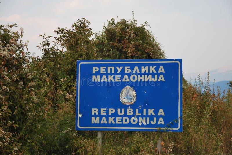 Powitanie w Macedonia obrazy stock