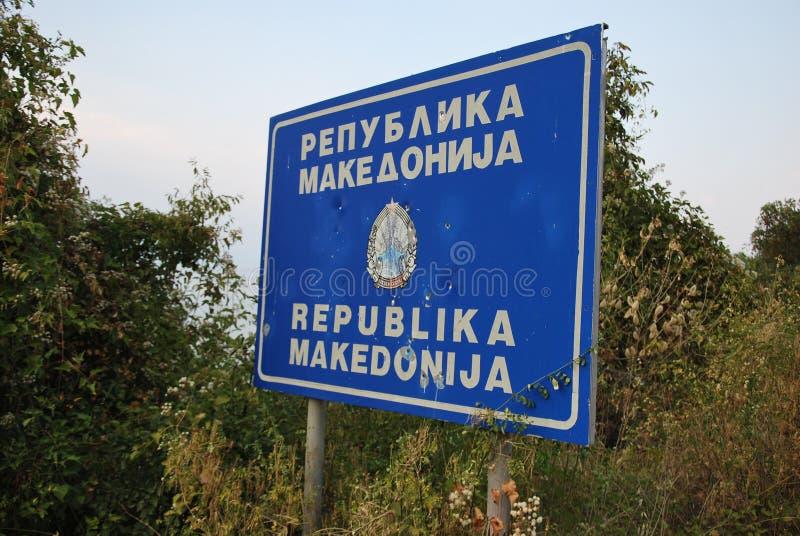 Powitanie w Macedonia zdjęcia royalty free