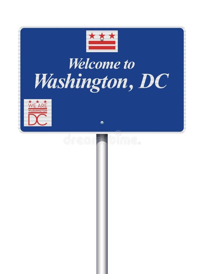 Powitanie washington dc drogowy znak royalty ilustracja