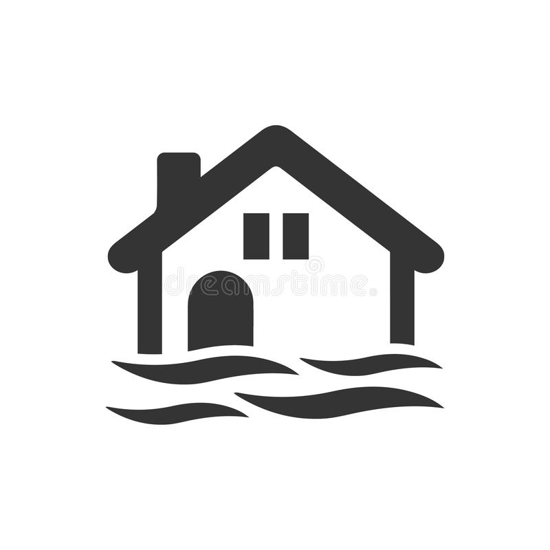 Powodzi ikona ilustracja wektor