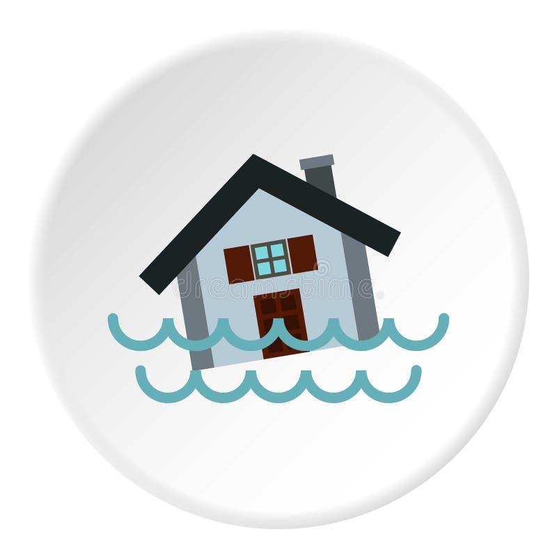 Powodzi ikona, mieszkanie styl ilustracji
