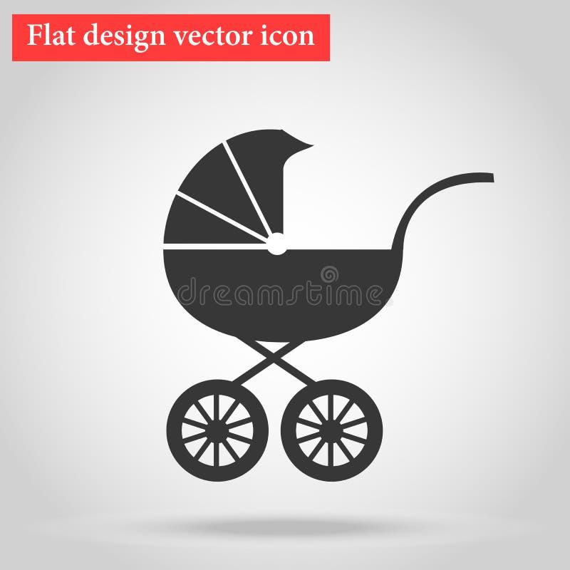 Powozik, ciężarówki dla transportu młode dziecko sypialna ikona ilustracja wektor