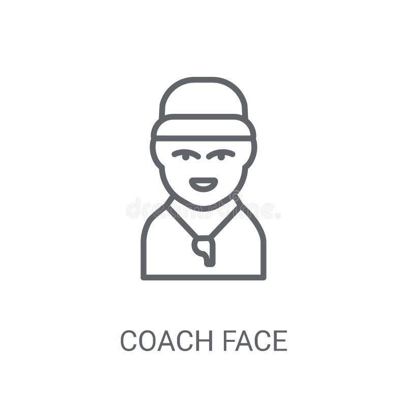 Powozowa twarzy ikona Modny Powozowy twarz logo pojęcie na białym backgro ilustracja wektor