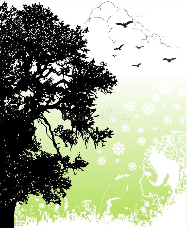 powrót do natury ilustracja wektor