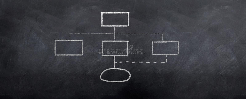 Powr Org Diagramm stock abbildung