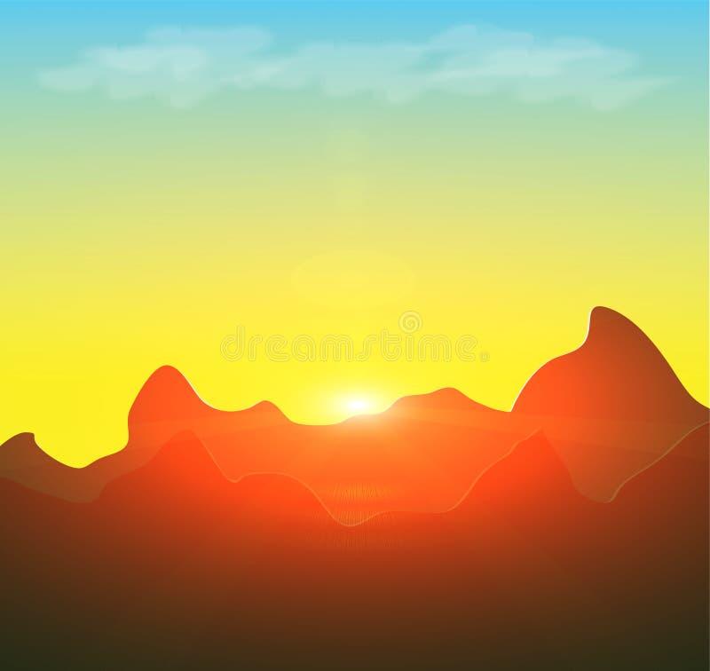 powstający słońce royalty ilustracja