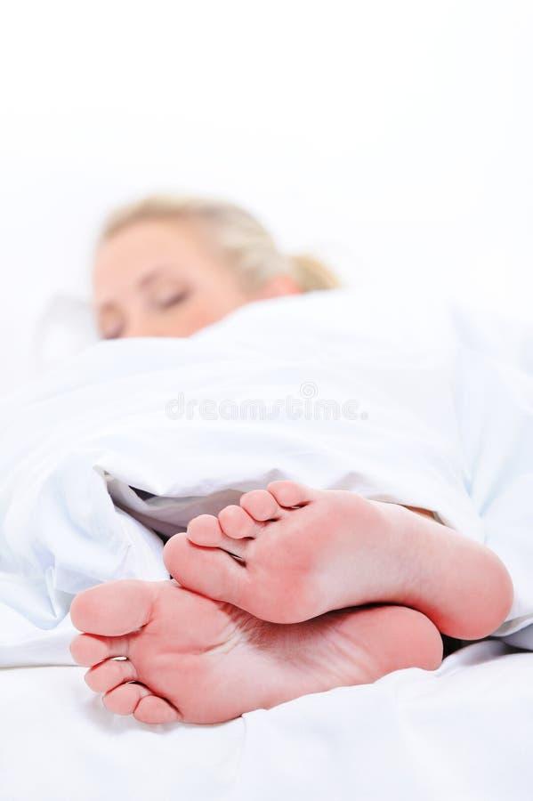 powszechny czyścić target2086_1_ kobiety okładkowych feets zdjęcie stock