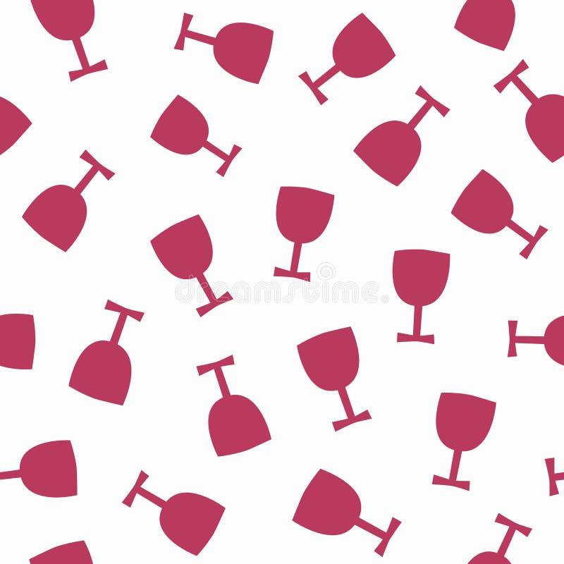 Powtórkowe pierwotne sylwetki szkła Alkoholu bezszwowy wzór ilustracji