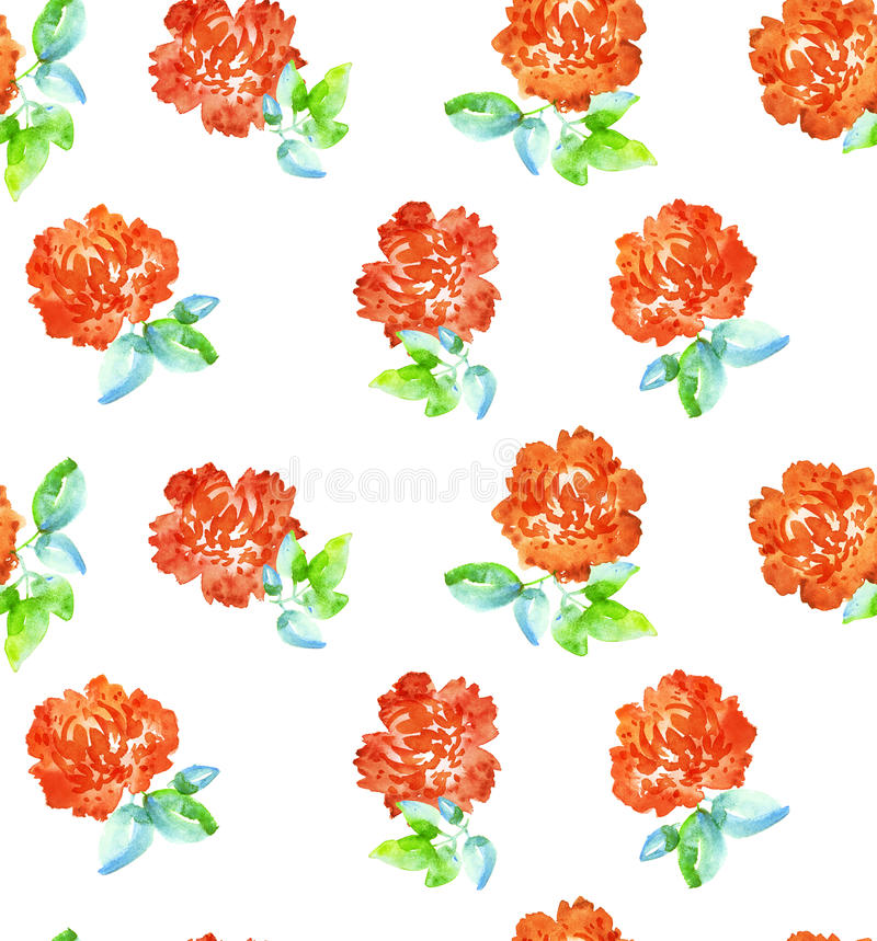 Powtarzalny kwiecisty motyw dla tkaniny lub opakunkowego papieru royalty ilustracja