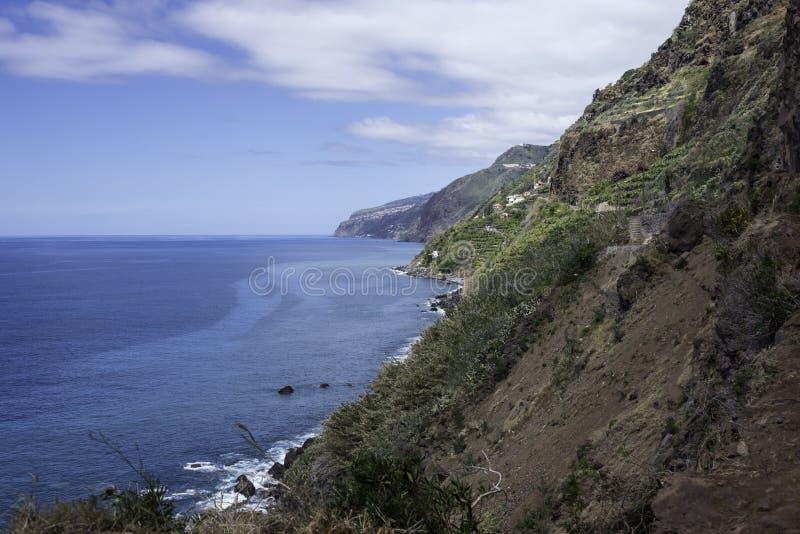 powulkaniczne skały Madeira wyspa zdjęcie royalty free