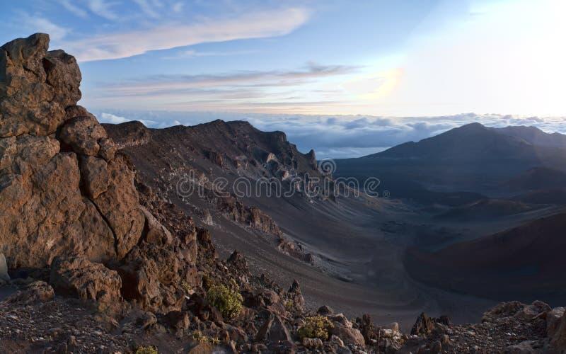 powulkaniczny haleakala park narodowy obrazy stock