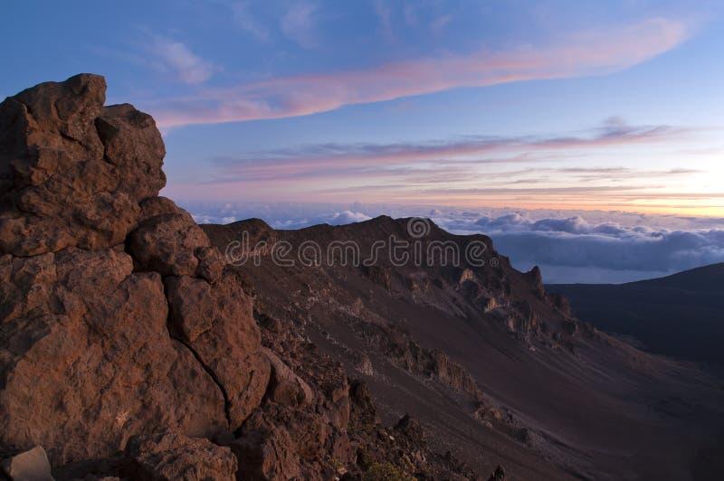powulkaniczny haleakala park narodowy zdjęcie royalty free
