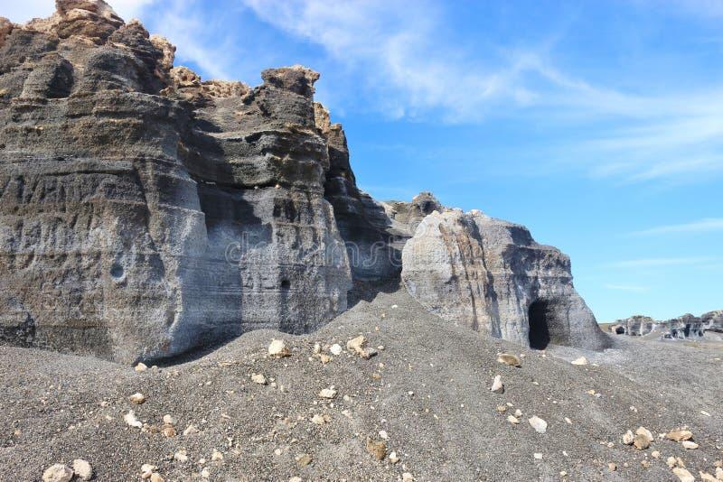Powulkaniczny jar na Lanzarote, wyspy kanaryjska, Hiszpania zdjęcie royalty free