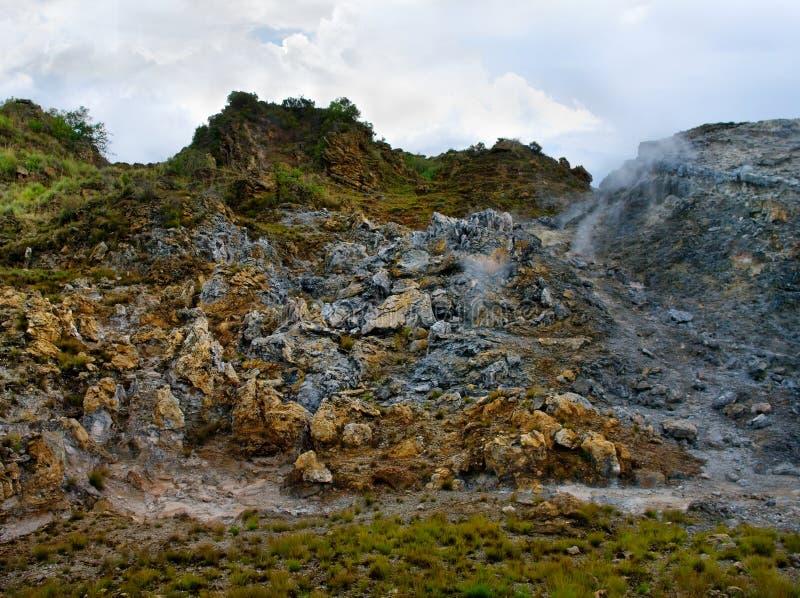 Powulkaniczny krajobraz. Kenja obrazy royalty free