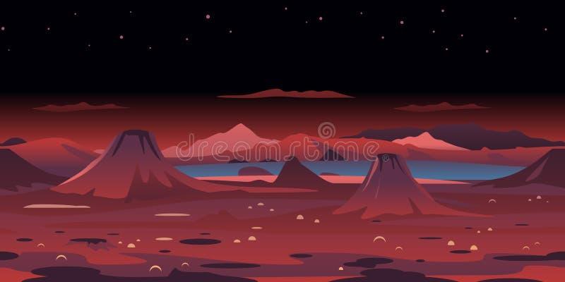 Powulkaniczny Krajobrazowy Gemowy tło ilustracji