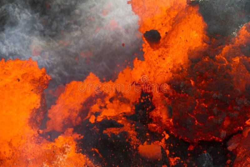 Powulkaniczny ogień fotografia stock