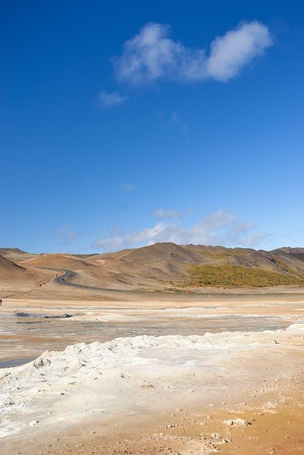 Powulkaniczny pustynia krajobraz w Iceland obraz stock