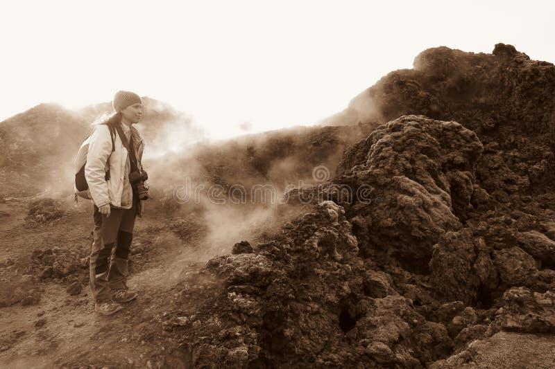 powulkaniczny terenu krafla zdjęcie royalty free