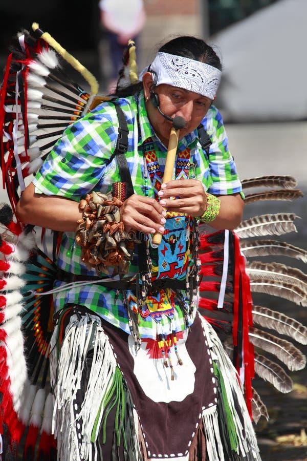 powwow музыканта стоковое изображение
