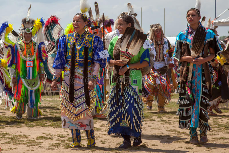 Powwow Native American Festival. Unidentified participants of the Powwow Native American Festival at Floyd Bennett Field on June 2, 2013 in Brooklyn, NY. The stock image