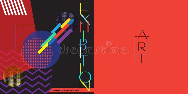 Powystawowy broszurki pokrywy projekt ilustracja wektor