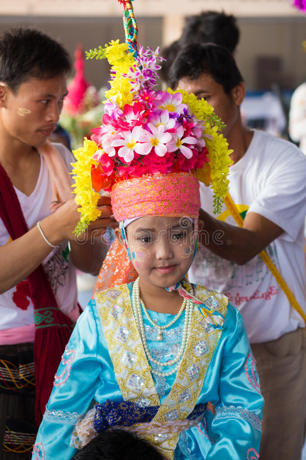 Poy Sang Long festival. arkivbild