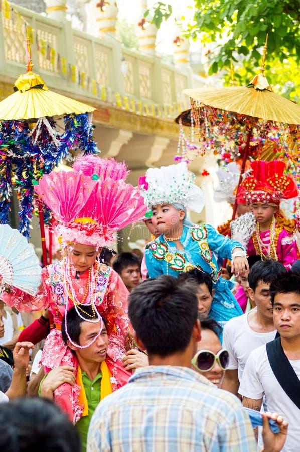 Poy Sang Long festival royaltyfri foto