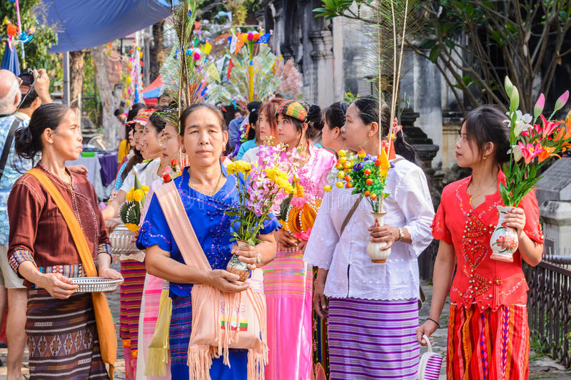 Download Poy Sang Long festival editorial stock image. Image of buddhism - 39513419