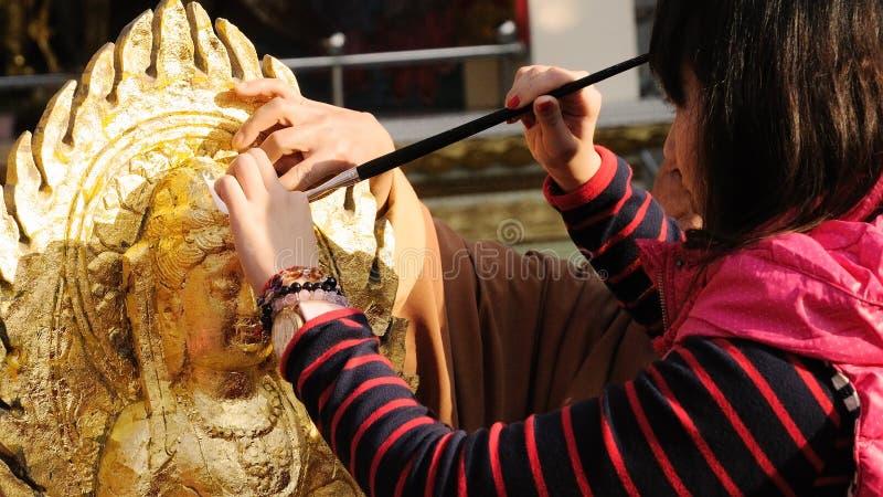 Pozłacanie Buddha zdjęcia stock