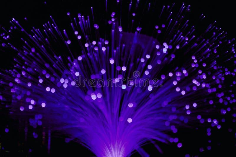 Pozafioletowy włókno światłowodowe lampy światło zdjęcie royalty free
