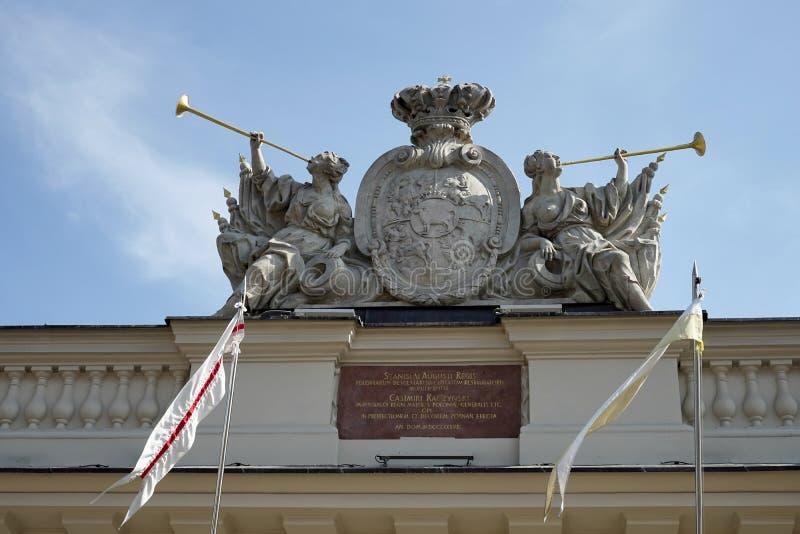 POZAN, POLAND/EUROPE - 16 DE SEPTIEMBRE: Escudo de armas en el Guardh fotografía de archivo