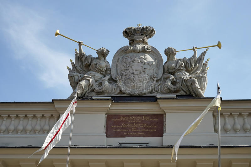 POZAN, POLAND/EUROPE - SEPTEMBER 16 : Coat of arms on the Guardhouse in Poznan Poland on September 16, 2014 stock photography