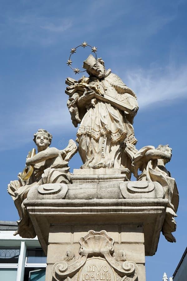 POZAN POLAND/EUROPE - SEPTEMBER 16: Staty av St John Nepomuc arkivfoto