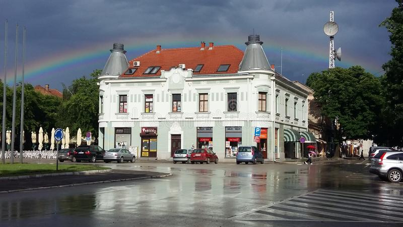 Pozarevac after the rain. Pozarevac town in Serbia, Europe royalty free stock photography