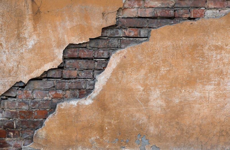 pozatym stara mur crunch E zdjęcie stock