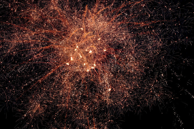 Pozaziemski jak fajerwerki noc zdjęcia royalty free