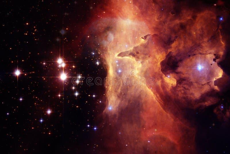 Pozaziemski krajobraz, kolorowa fantastyka naukowa tapeta z niekończący się kosmosem ilustracja wektor