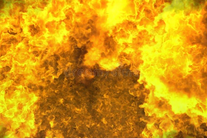 Pozaziemskiej płonącej graby abstrakcjonistyczny tło lub tekstura - pożarnicza 3D ilustracja royalty ilustracja