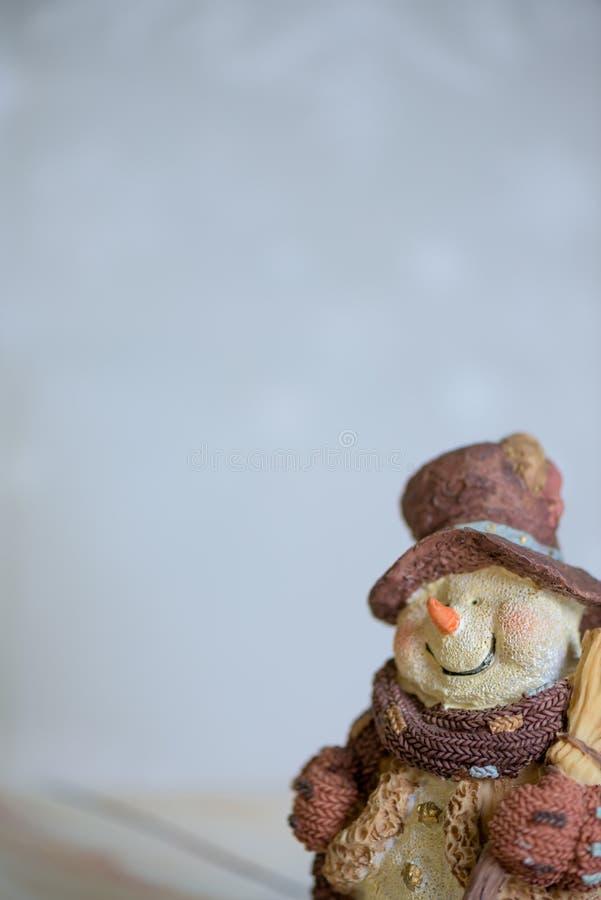 2007 pozdrowienia karty szczęśliwych nowego roku Uśmiechnięty bałwan dla szczęśliwego nowego roku i kartka bożonarodzeniowa z kop obrazy stock