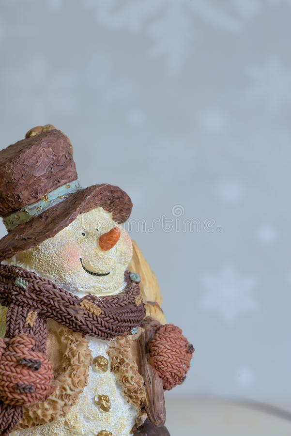 2007 pozdrowienia karty szczęśliwych nowego roku Uśmiechnięty bałwan dla szczęśliwego nowego roku i kartka bożonarodzeniowa z kop fotografia stock