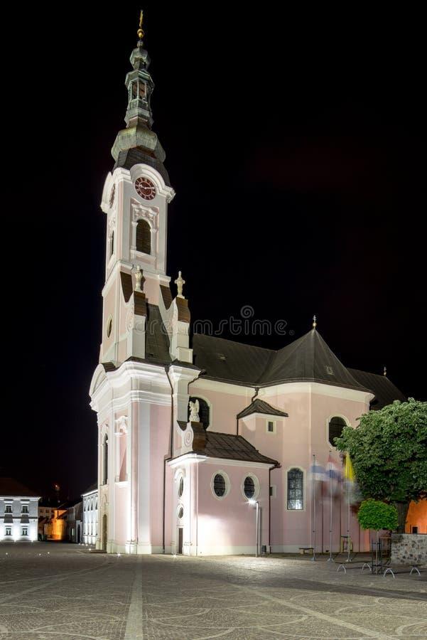 Pozega, Croacia, Chatedral St Theresa imágenes de archivo libres de regalías