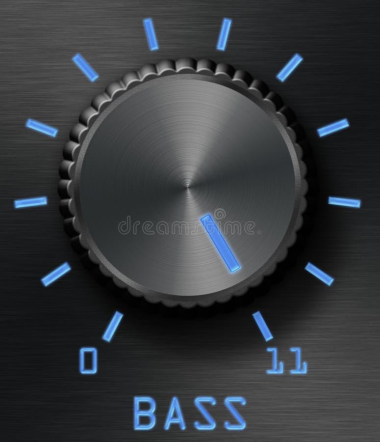 poziom kontroli bass royalty ilustracja