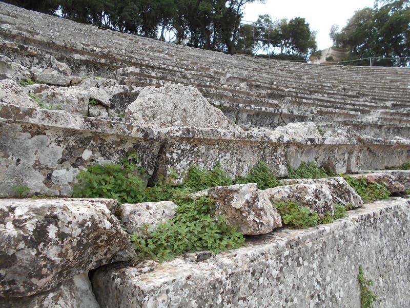 Poziomy Antyczny teatr, Epidauros, Grecja zdjęcie royalty free