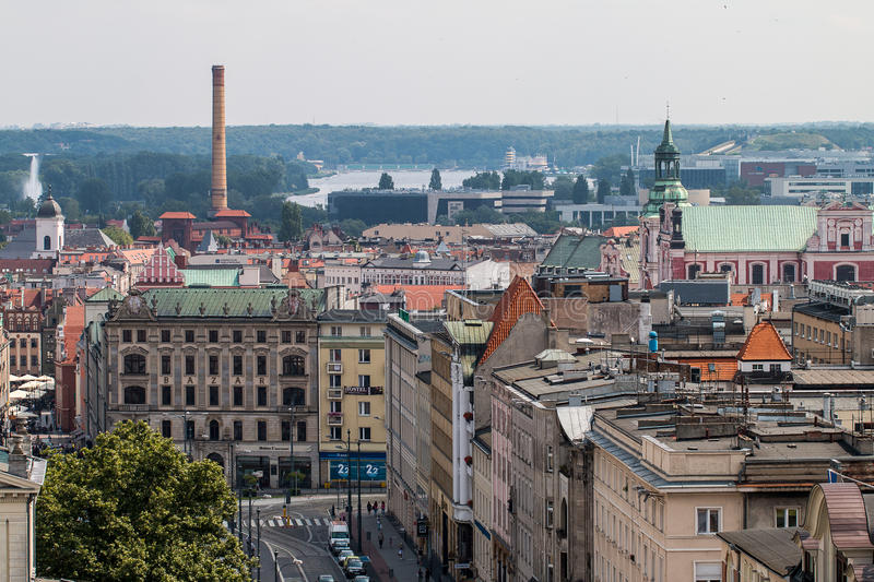 Poznań panorama from roof. royalty free stock photo