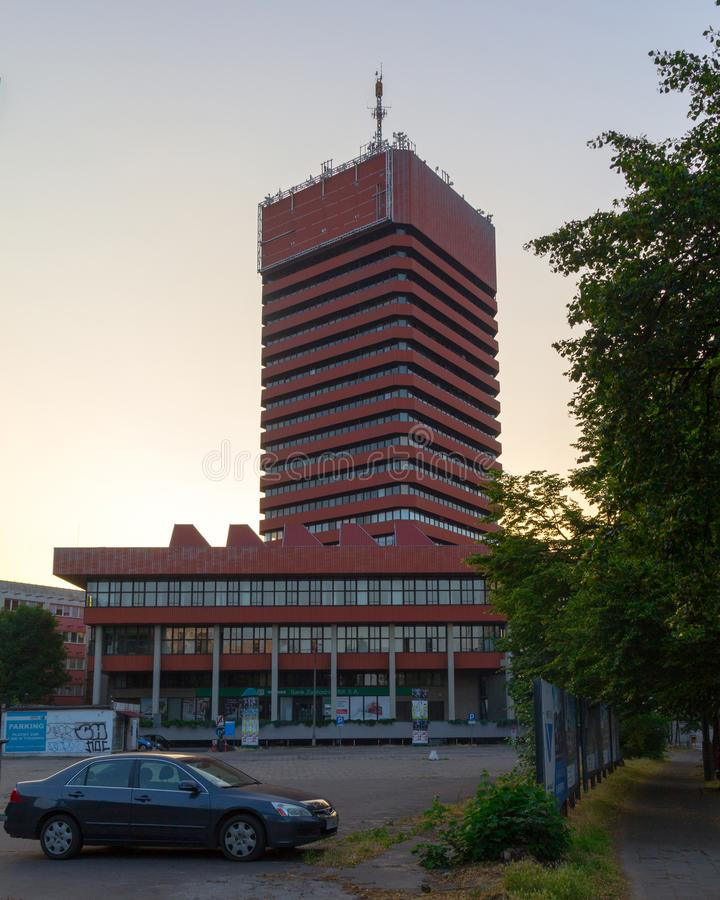 """PoznaÅ """", Polen - 06 20 2018: Economische Universiteit stock afbeelding"""