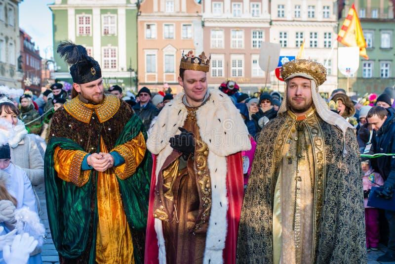 Poznański, Polska, Styczeń - 6, 2017: Objawienie Pańskie wakacje w Chrześcijańskiej religii obrazy royalty free